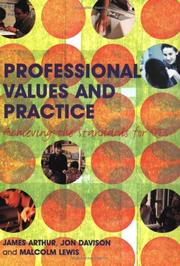 Cover of: Professional values and practice