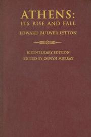 Cover of: Athens | Edward Bulwer Lytton