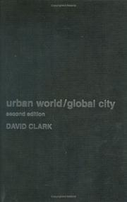 Cover of: Urban world/global city