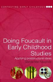 Cover of: Doing Foucault in early childhood studies by Glenda MacNaughton