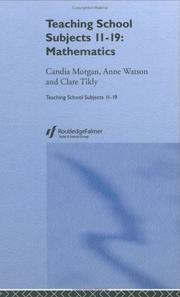 Cover of: Mathematics | Candia Morgan