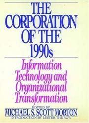 Cover of: The Corporation of the 1990s | edited by Michael S. Scott Morton.