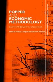 Cover of: Popper and Economic Methodology | Paschal O