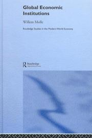 Cover of: Global economic institutions