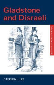 Cover of: Gladstone and Disraeli