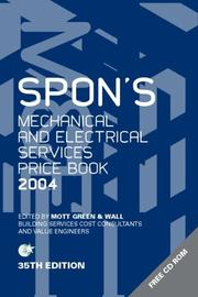 Cover of: Spon's Mechanical & Electrical Services Price Book 2004 (Spon's Pricebooks)
