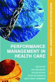 Cover of: Performance management in health care |