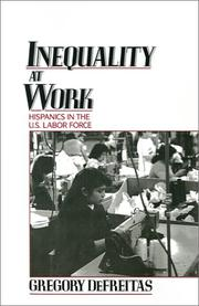 Cover of: Inequality at work