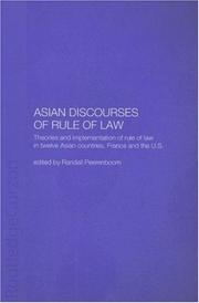 Cover of: Asian Discourses of Rule of Law
