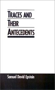 Cover of: Traces and their antecedents
