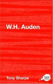 Cover of: W. H. Auden (Routledge Guide to Literature) | Tony Sharpe