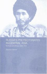 Russia's protectorates in Central Asia by Seymour Becker