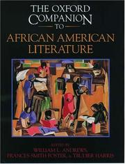 Cover of: The Oxford companion to African American literature