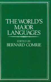 Cover of: The World's Major Languages