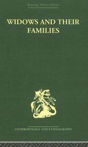 Cover of: Widows and their families