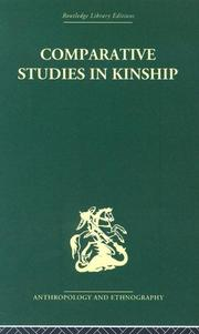 Cover of: Comparative Studies in Kinship