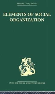 Cover of: Elements of Social Organisation