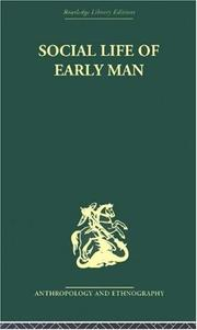 Cover of: Social Life of Early Man