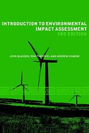Cover of: Introduction to Environmental Impact Assesment (The Natural and Built Environment Series)