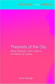 Cover of: Theorists of the City