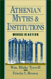 Cover of: Athenian Myths and Institutions | Wm Blake Tyrrell