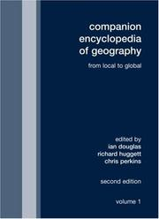 Cover of: Companion Encyclopedia of Geography | Ian Douglas