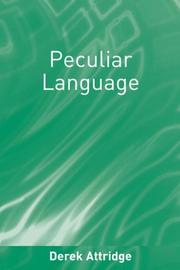Cover of: Peculiar language