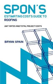 Cover of: Spon's Estimating Costs Guide to Roofing (Spon's Contractors' Handbooks)