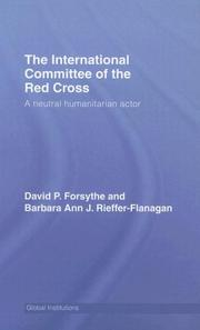 Cover of: The International Committee of Red Cross