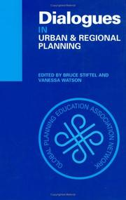 Cover of: Dialogues in urban and regional planning |