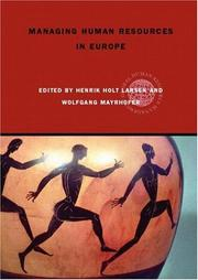 Cover of: Managing human resources in Europe |