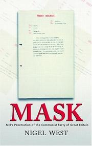 Cover of: MASK  MI5's Penetration of the Communist Party of Great Britain