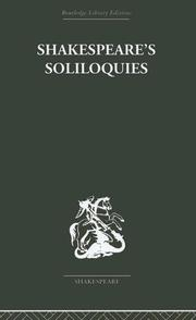 Cover of: Shakespeare's Soliloquies