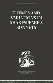 Cover of: Themes and Variations in Shakespeare's Sonnets