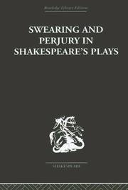 Cover of: Swearing and Perjury in Shakespeare's Plays