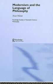 Cover of: Modernisn and the Language Of Philosophy | Anat Matar