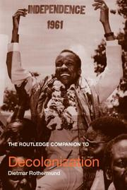Cover of: The Routledge companion to decolonization