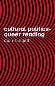 Cover of: Cultural politics-- queer reading / Alan Sinfield