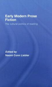 Cover of: Early Modern Prose Fiction | N Conn Liebler