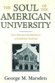 Cover of: The Soul of the American University