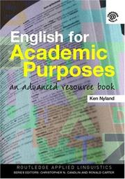 Cover of: English for Academic Purposes