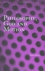 Cover of: Philosophy, God and Motion