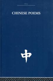 Cover of: Chinese Poems