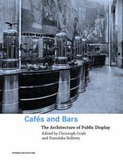 Cover of: Cafes and Bars
