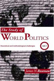 Cover of: Study of World Politics: Volume I
