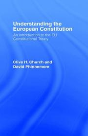 Cover of: Understanding the European Constitiution