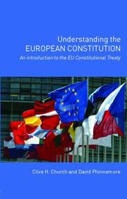 Cover of: Understanding the European Constitution