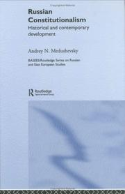 Cover of: Russian Constitutionalism