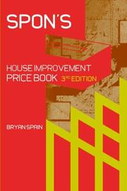 Cover of: Spon's house improvement price book