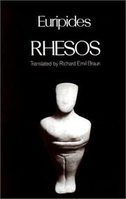 Cover of: Rhesos (Greek Tragedy in New Translations) | Euripides
